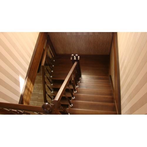 Лестница из сосны - ЛПД-006