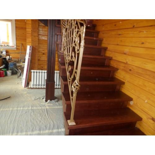 Лестница из ясеня - ЛГД-006